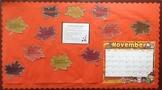 November Fall Thanksgiving Writing Bulletin Board