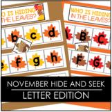 November Falling Leaves Hide and Seek - Letter Edition