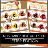 November Falling Leaves Hide and Seek - Letter Edition