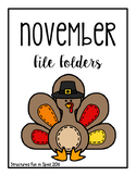 November File Folders for Preschool, Pre-K and Special Needs