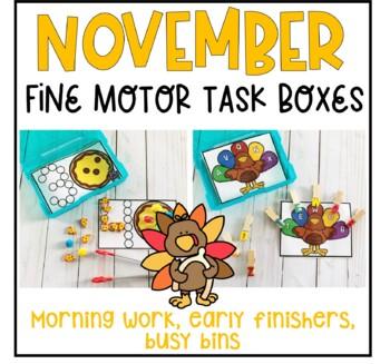 November Fine Motor Task Boxes