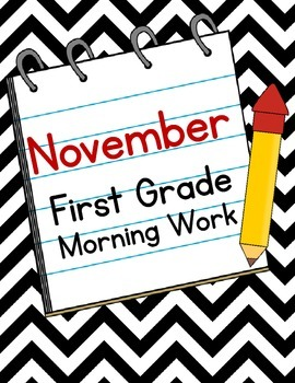 November First Grade Morning Work