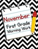 November First Grade Morning Work