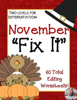 "November ""Fix It"" Editing Work! Two Levels!"