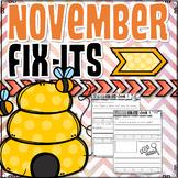 November Fix-It Sentences With Powerpoint