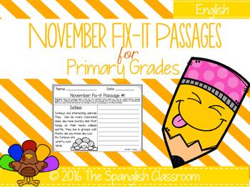 November Fix-it Passages