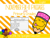 November Fix-it Passages
