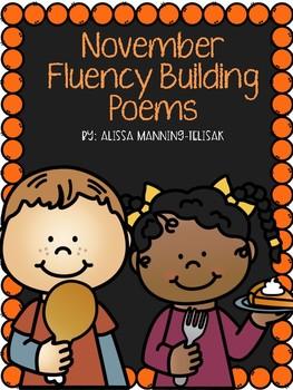 November Fluency Building Poems {Poetry Notebooks}