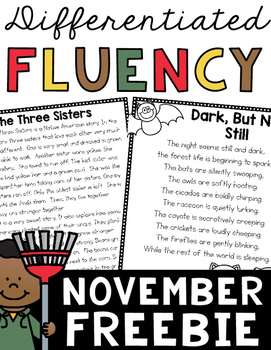 November Fluency Freebie