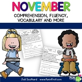 Fluency for November - Common Core Correlated