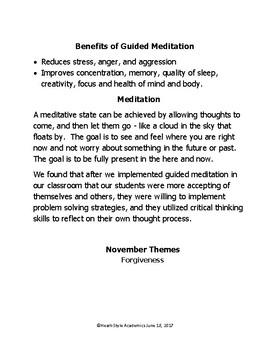November Forgiveness Guided Meditation