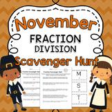 November Fraction Division Word Problem Activity