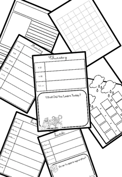 November French & English Primary Planners