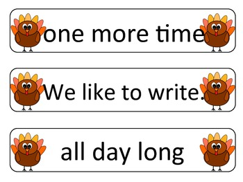 Sight Word Phrases: First 48 for November-FREE