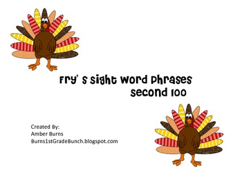 Sight Word Phrases: Second 100 for November