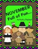 November-Full of Fun Activity Packet