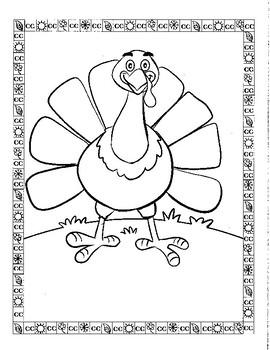 November Fun Coloring Pages