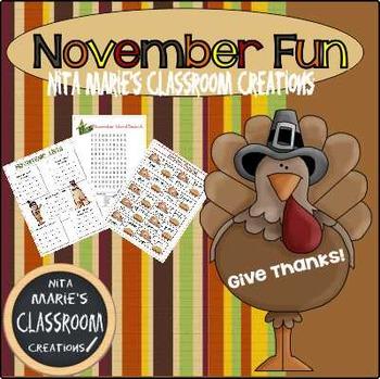 November Fun Packet