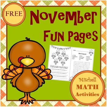 November Fun Pages
