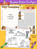 November Fun Pages - Coloring and Activity Download - Dist