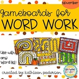November Game Boards for ANY Word List!