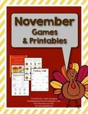 November Games & Printables