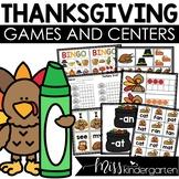 November Centers for Math and Literacy Kindergarten