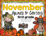 November Centers for Math and Literacy First Grade