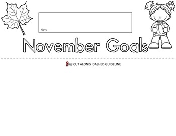 November Goals Flip Book