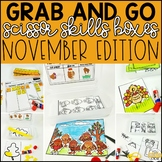 November Grab and Go Scissor Skills Activities