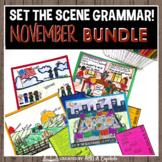 November Grammar Review Set the Scene BUNDLE