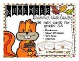 November Grammar Task Cards