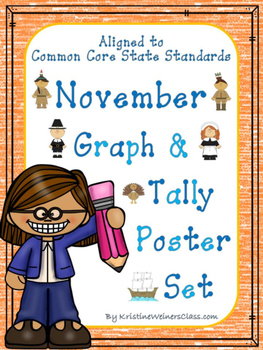 November Graph and Tally Poster Set: Thanksgiving Pictures