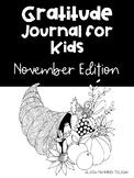 November Gratitude Journal for Kids