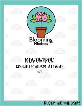 Growth Mindset -November Activity