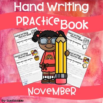 November Hand Writing Practice Book