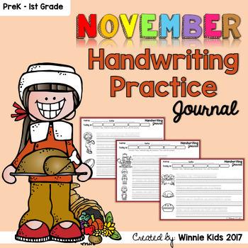 November Handwriting Practice Journal