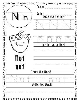 November Handwriting Practice (No Prep!)