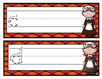 November Handwriting Write & Wipe--Center for PK-1
