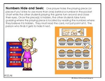 November Hide and Seek - Numbers Edition