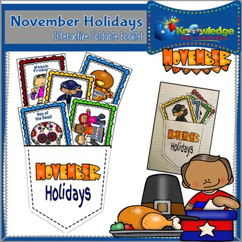 November Holidays Interactive Foldable Booklet