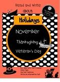 November Holidays Veteran's Day and Thanksgiving . Close R