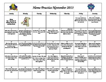 November Home Practice