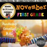 November Homework Packet -1st Grade