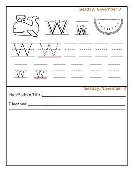 November Homework Packet