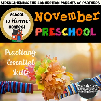 November Homework Packet: Preschool Edition