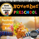 School To Home Connect Preschool November Homework