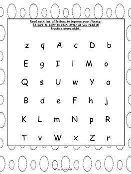 November Homework Packet for Kindergarten