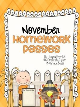 November Homework Passes