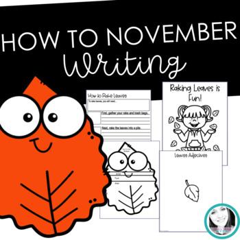 November How to Writing Bundle